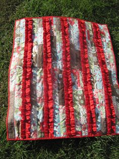 Red ruffle quilt