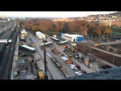 ▶ Großbaustelle Stuttgart 21 im Zeitraffer am 18.11.13   Timelapse of Stuttgart 21 construction site - YouTube