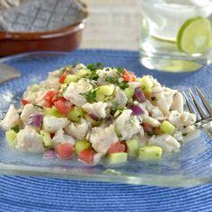 Recetas de Pescados y Mariscos Fáciles Venezuelan Food, Latin Food, Kfc, Cilantro, Pasta Salad, Potato Salad, Yummy Food, Cooking, Healthy