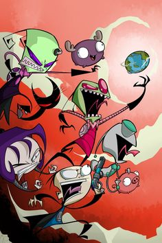 Invader Zim -  a psychotic little show, but it has its moments and is pretty funny.