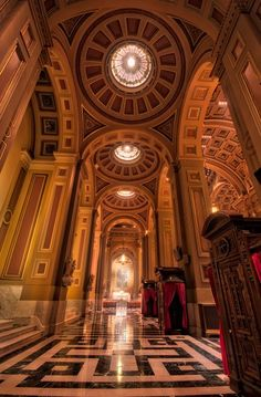 Inside the Cathedral Basilica of Saints Peter and Paul in Philadelphia, Pennsylvania: http://uncoveringpa.com/visiting-the-cathedral-basilica-of-saints-peter-paul
