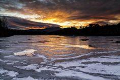 Price Lake, Blowing Rock NC Blowing Rock North Carolina, Blowing Rock Nc, Weather Center, Lake Photos, Blue Ridge Parkway, Photo Contest, Frozen, Sunset, Winter