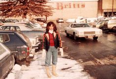 A shopper posed for this photo in front of Britt's department store in Freehold in the early 1980s. Courtesy of David MacDougall - Vintage photos of discount and department stores in N.J. | NJ.com