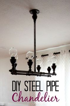 DIY Showoff Party - Steel Pipe Chandelier