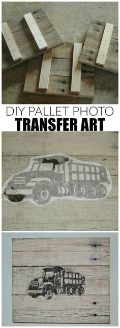 How to transfer images onto custom pallet frames. - www.littlehouseoffour.com