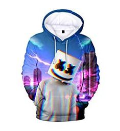 Unisex 3D Novelty Hoodies Video Games,Black and White,Oversized Sweatshirts for Women