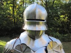 This is a replica of an original 15th century War of the Roses harness. The armor style is German Gothic. This armor is made from wax castings off of original pieces, utilizing original armor smith...