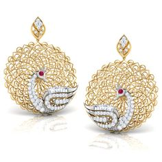 Peacock Trellis Earrings