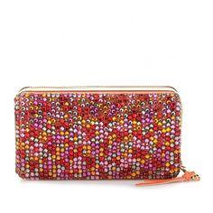 Chloé Sequined Box Clutch (88.945 RUB) ❤ liked on Polyvore featuring bags, handbags, clutches, bolsos, chloe, papaya, chloe purses, box clutch, red clutches and chloe handbags