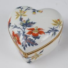 Limoges Porcelain Heart Shaped Box