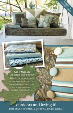 Use all-weather fabric to sew outdoor decor for the porch, beach, or somewhere in between.