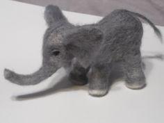 felted baby elephant