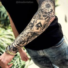 Amazing artist Jeffry Mendoza Jeffry Mendoza awesome roses clock cards script le… – Tattoo Pins - Famous Last Words Forarm Tattoos, Forearm Sleeve Tattoos, Best Sleeve Tattoos, Tattoo Sleeve Designs, Tattoo Designs Men, Body Art Tattoos, Tattoo Sleeves, Mehndi Designs, Tattos