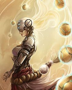 Zenyatta genderbend by Kachima #overwatch #overwatch_arts #videogames #art #fanart #blizzard #artwork #drawing #zenyatta