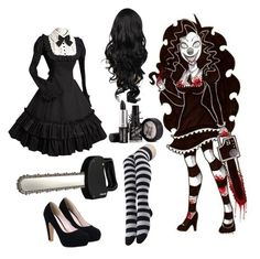 """""""Laughing Jill (creepypasta)"""" by anna-fuentes-sykes ❤ liked on Polyvore featuring Fiskars"""