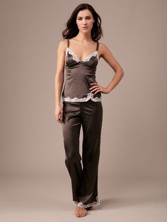 Satin and Lace Pajama Pant by Blush Lingerie on Gilt.com