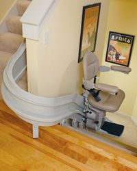Indy Curve Stair Lift   Can Work With A Landing. Design Ideas