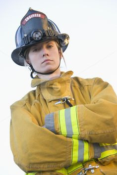 female firefighter always good to see sisters out there.. :)