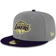 7c2c9fee Men's Los Angeles Lakers New Era Gray/Blue Pacific 59FIFTY Fitted Hat,  $35.99