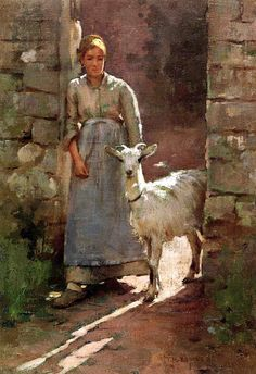 Theodore Robinson,    Girl with a Goat,    1886