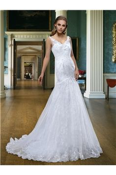 Beading Summer Zipper-up Court Trumpet/Mermaid Floor-Length Flowers Natural Wedding Dress