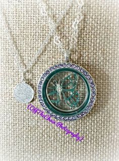 We have so many new butterfly items in our line! This butterfly window plate is my favorite! And the locket with purple crystals! #Butterfly #OrigamiOwl #PurpleLocket