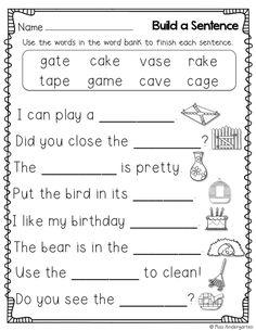 Miss Kindergarten: Super CVCe Practice {that tricky magic e!}