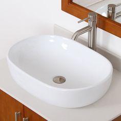 Found it at Wayfair - Ceramic Capsule-Shaped Bathroom Sink