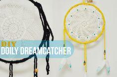beetlebailey: Doily Dream Catcher DIY