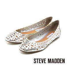STEVE MADDEN -- 雷射切割簍空春意盎然娃娃鞋-- 銀河銀 - Yahoo!奇摩購物中心