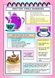 British High Tea Table Manners