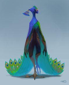 oseoro:  Peacock man.