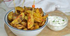 Aprende a preparar estas deliciosas patatas al horno ¡Super ricas y muy fáciles de hacer! Healthy Snacks, Healthy Recipes, Bulgarian Recipes, American Food, Canapes, Sin Gluten, Potato Recipes, Sweet Potato, Tapas