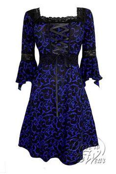 Dare To Wear Victorian Gothic Women's Plus Size Renaissance Corset Dress Paris by Night