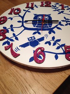 Clock made from blank MDF kit