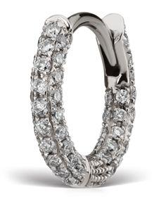 Maria Tash Small White Gold Diamond Bottom Hinge 5 Row Pave   Jewellery…