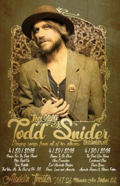 Todd Snider Announces Portland Run