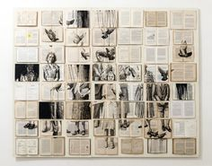 Paintings on vintage books by Ekaterina Panikanova. The Russian artist creates large mosaics on the wall using old books and then paints images on the pages inspired by the book's content. Illustration Arte, Instalation Art, Colossal Art, A Level Art, Gcse Art, Art Graphique, Old Books, Design Museum, Art Sketchbook