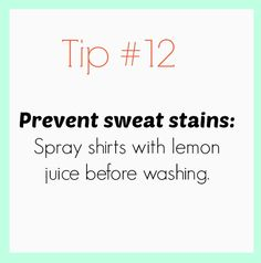 30 Smart Fashion Tips Everyone Should Know: prevent sweat stains