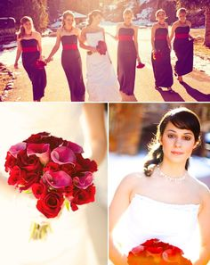 Red & purple for wedding colors.