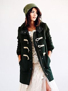 Free People Wooly Toggle Coat