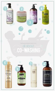 Co-Washing Cleansing Conditioners // The Beauty Department Natural Hair Tips, Natural Hair Journey, Natural Hair Styles, Hair Without Shampoo, Hair Milk, Loreal Hair, Cleansing Conditioner, Coarse Hair, The Beauty Department