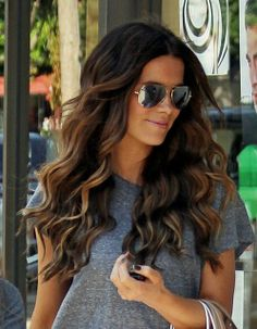 Gorgeous ombre hair for brunettes.