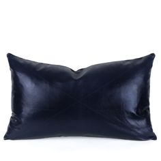 Buy our Navy Blue Leather Pillow online. You love great design and we create beautiful products to inspire your vision. P. S. I love it! every time you work with us. Multiple sizes. Free shipping!