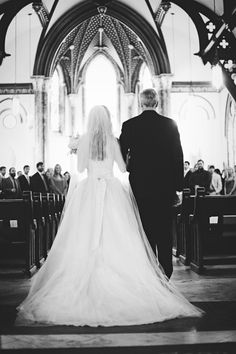 There is something so amazing about a photo of a bride and her dad walking down a church aisle. Makes my heart skip a beat | The Nichols |