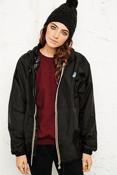 K-Way Claudette Waterproof Jacket in Black