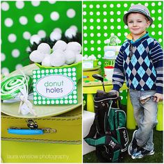 Golf Theme Party:) Love The Donut Holes Idea. Party Themes For Boys, Birthday Party Themes, Boy Birthday, Birthday Ideas, Birthday Stuff, Thema Golf, Golf Party, Sports Party, Golf Theme