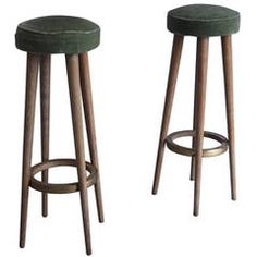 Pair of French Art Deco Stools
