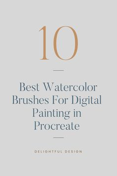 Top 10 Best Watercolor Brushes For Digital Painting in Procreate (Free Paid) – Delightful Des Best Ui Design, Web Design Tips, Web Design Trends, Branding Template, Branding Design, Logo Design, Design Design, Minimal Web Design, Graphic Design Templates