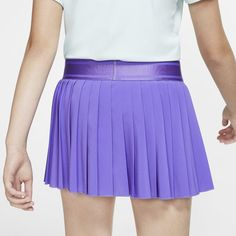 The NikeCourt Victory Older Kids' (Girls') Tennis Skirt features inner shorts for supportive comfort on the court and a classic silhouette. Girls Tennis Skirt, Tennis Wear, Shape Of Your Body, Nike, Timeless Fashion, Short Skirts, Kids Girls, Victorious, Skater Skirt